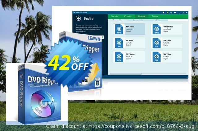 Leawo DVD Ripper discount 42% OFF, 2020 College Student deals promo