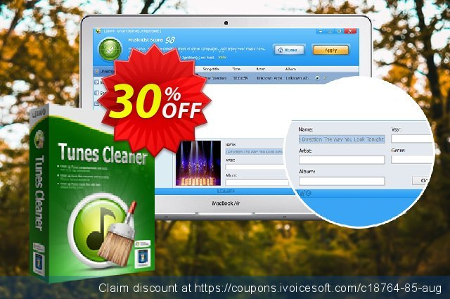 Get 30% OFF Leawo Tunes Cleaner offering sales