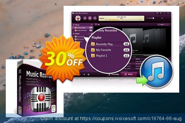 Leawo Music Recorder discount 30% OFF, 2021 National Savings Day offering sales. Leawo coupon (18764)