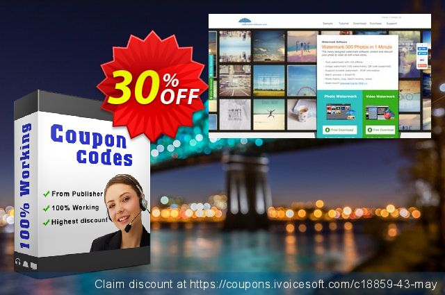 Aoao Video Watermark Pro discount 30% OFF, 2020 Labour Day offering deals
