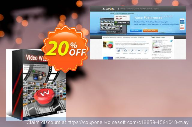 Aoao Video Watermark Pro discount 20% OFF, 2019 Thanksgiving discount