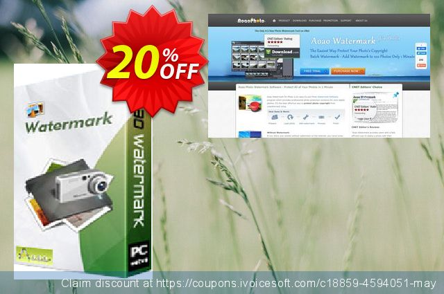 Aoao Watermark (Personal) discount 20% OFF, 2019 Thanksgiving offering deals