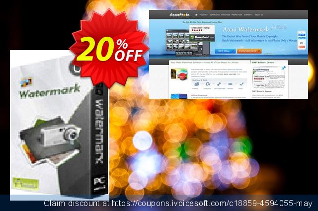 Aoao Watermark (Unlimited) discount 20% OFF, 2019 Thanksgiving Day offering sales