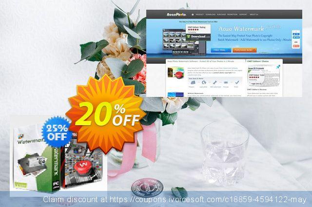 Aoao Photo Watermark + Aoao Video Watermark Pro Bundle discount 20% OFF, 2020 Summer deals