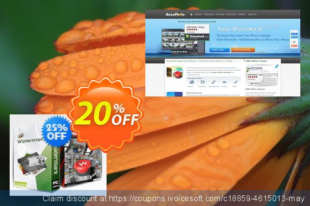 Aoao Photo Watermark + Aoao Video Watermark Pro Bundle for SOS discount 20% OFF, 2020 Spring deals