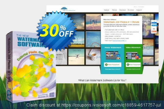 Watermark Software for Personal discount 30% OFF, 2020 Back to School promo offering sales