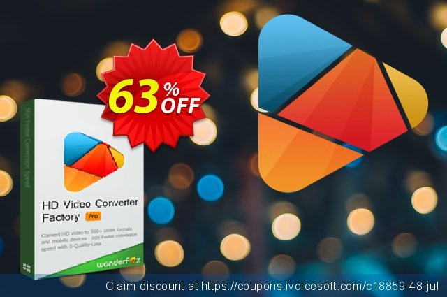 HD Video Converter Factory Pro Family Pack discount 63% OFF, 2019 Black Friday discounts