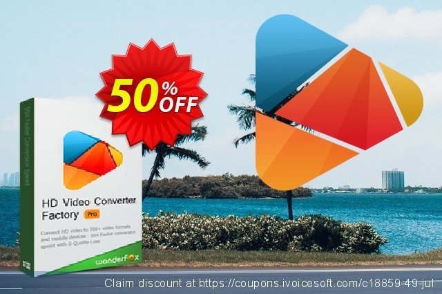 HD Video Converter Factory Pro discount 50% OFF, 2019 Exclusive Student discount offering sales