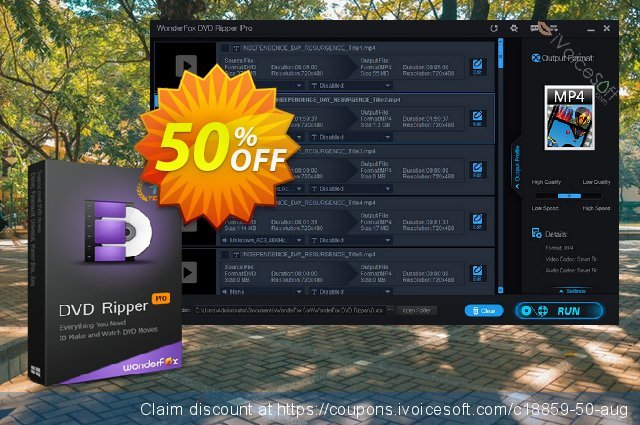Get 50% OFF DVD Ripper Pro discount for Single License offering sales