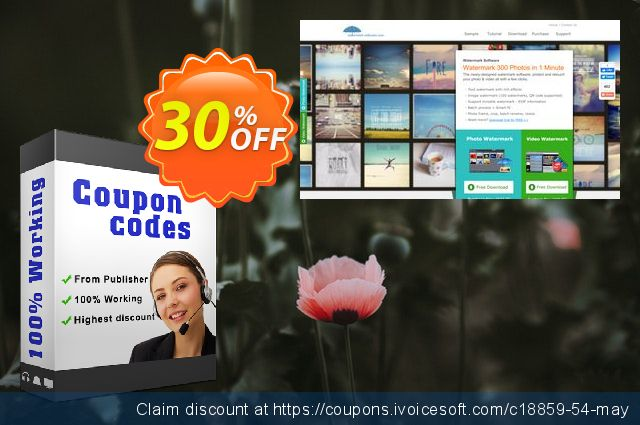 Aoao Video Watermark Pro (3 PCs) discount 30% OFF, 2020 Summer promotions