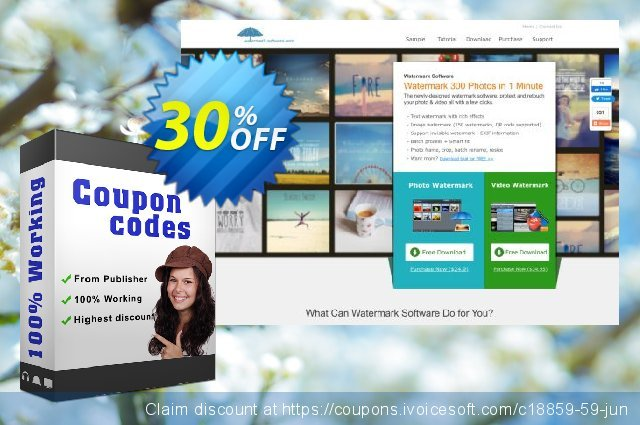 Watermark Software for Personal (1 PC) discount 30% OFF, 2020 Spring offer
