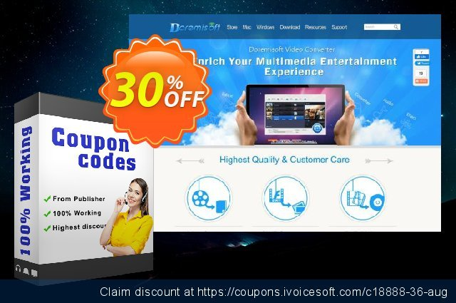 Doremisoft Flip Video Converter discount 30% OFF, 2020 Back to School promotion offering sales