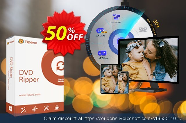 Tipard DVD Ripper Lifetime discount 50% OFF, 2021 Resurrection Sunday promo
