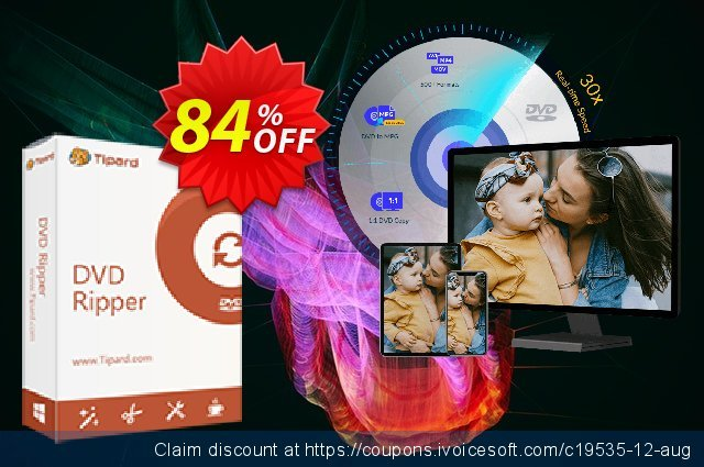 Tipard DVD to iPhone Converter Lifetime License  대단하   가격을 제시하다  스크린 샷