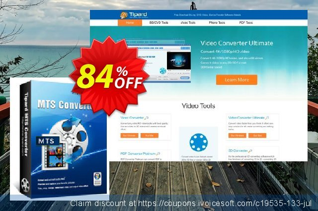 Get 84% OFF Tipard MTS Converter promo sales