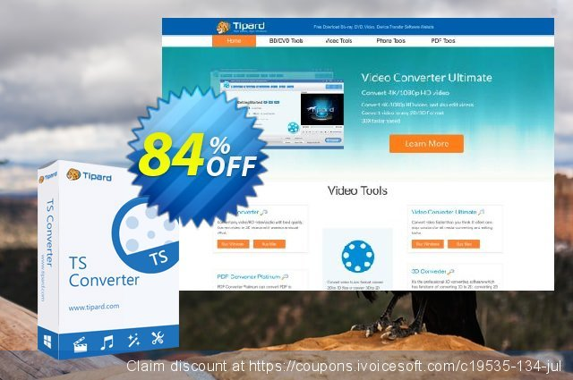 Tipard TS Converter discount 84% OFF, 2020 College Student deals offering sales