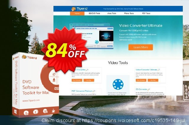 Tipard DVD Software Toolkit for Mac discount 84% OFF, 2020 January offering sales