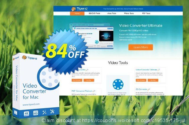 Tipard iPad Video Converter for Mac discount 84% OFF, 2020 Halloween offering sales