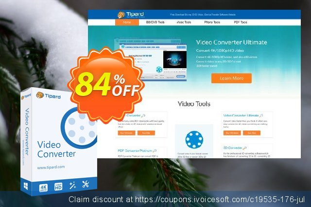 Tipard iPad Video Converter Lifetime License discount 84% OFF, 2020 Halloween offering sales