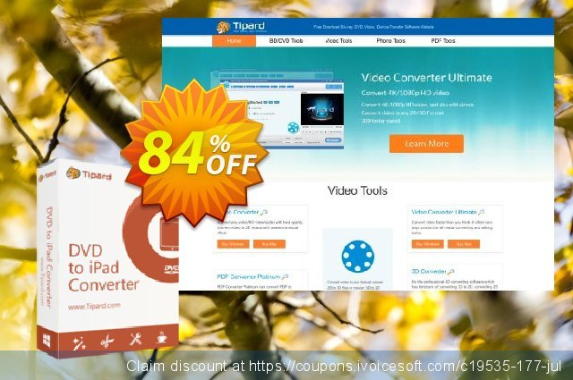 Tipard DVD to iPad Converter Lifetime License  놀라운   제공  스크린 샷
