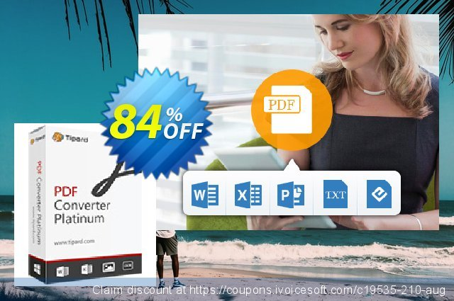 Tipard PDF Converter Platinum Lifetime License 可怕的 产品销售 软件截图