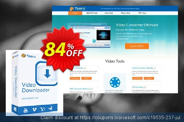 Tipard Video Downloader discount 50% OFF, 2018 New Year's eve offering sales