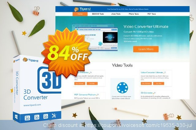 Tipard 3D Converter discount 84% OFF, 2020 Back to School deals offering sales