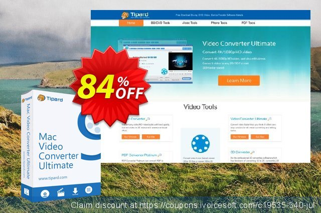 Tipard Mac Video Converter Ultimate discount 84% OFF, 2020 New Year's Weekend offering sales