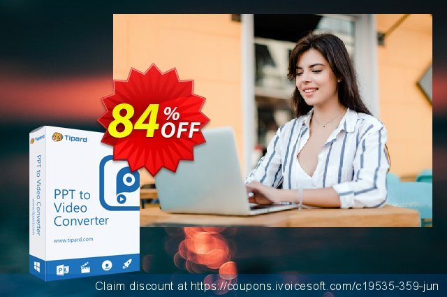 Tipard PPT to Video Converter discount 84% OFF, 2020 Halloween offering discount