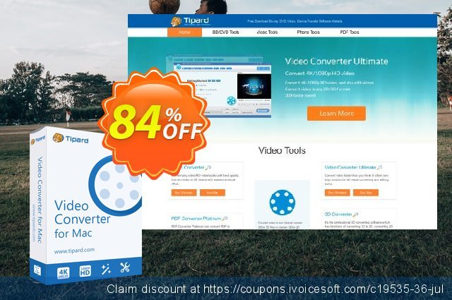 Tipard Video Converter for Mac discount 84% OFF, 2020 Halloween offer