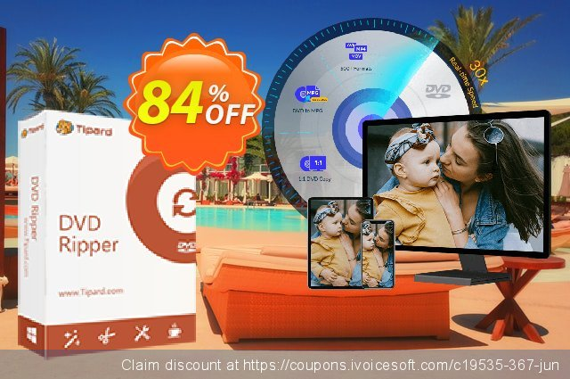 Tipard DVD Ripper (One Year) discount 84% OFF, 2020 Back to School Promos offering sales