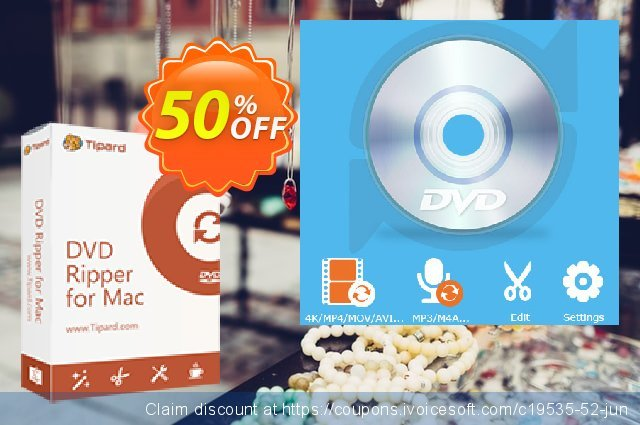 Tipard DVD to AVI Converter for Mac  굉장한   촉진  스크린 샷