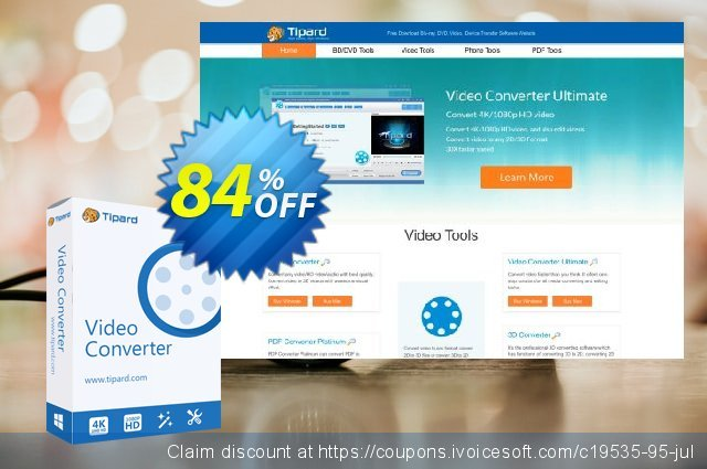 Tipard YouTube Video Converter discount 84% OFF, 2020 Halloween offering discount