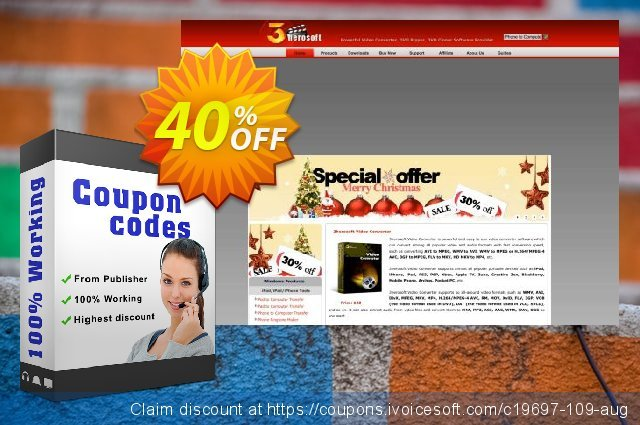 3herosoft Audio Encoder discount 40% OFF, 2020 Back to School Promos offering sales
