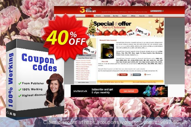 3herosoft FLV Converter for Mac 独占 扣头 软件截图