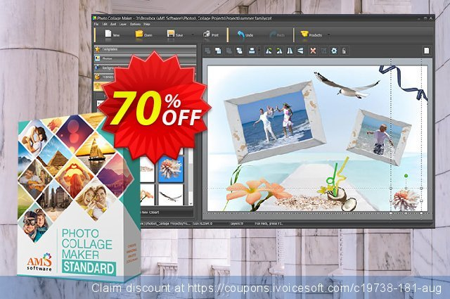 AMS Photo Collage Maker Standard discount 70% OFF, 2020 New Year offering sales