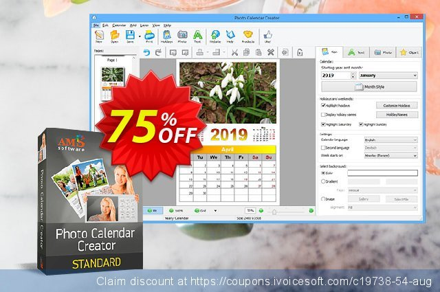 Photo Calendar Creator discount 70% OFF, 2020 July 4th offering deals