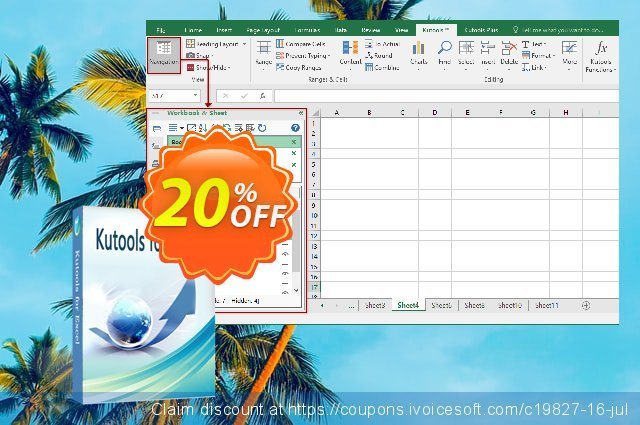 Kutools for Excel coupon code.