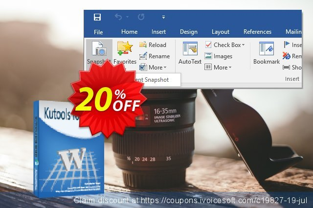 Kutools for Word discount 20% OFF, 2020 Exclusive Teacher discount promotions