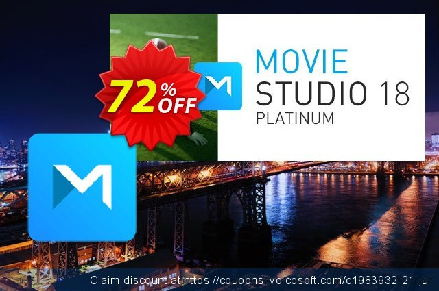 VEGAS Movie Studio 16 Platinum discount 72% OFF, 2020 Fourth of July offering sales