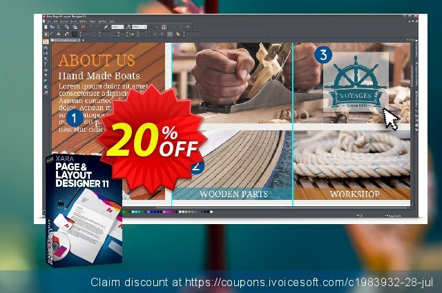 Xara Page & Layout Designer 11 discount 25% OFF, 2019 New Year's Day promo sales