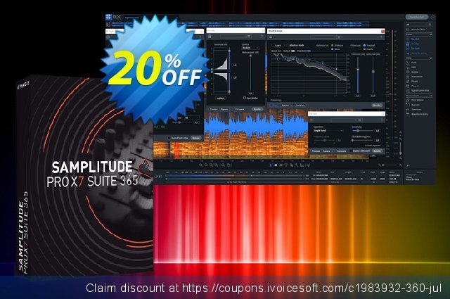 Samplitude Pro X5 Suite 365 discount 20% OFF, 2021 January offering sales