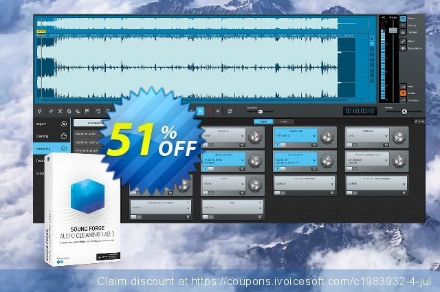 MAGIX SOUND FORGE Audio Cleaning Lab discount 20% OFF, 2020 Back-to-School promotions offering deals