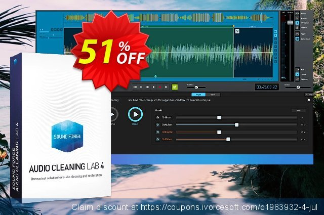 MAGIX SOUND FORGE Audio Cleaning Lab discount 51% OFF, 2021 Mother Day offer. 30% OFF MAGIX SOUND FORGE Audio Cleaning Lab 2021