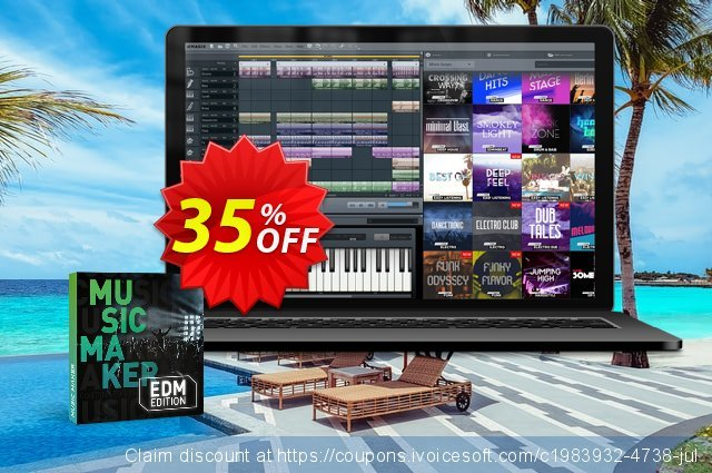 Music Maker EDM Edition discount 33% OFF, 2021 National Coffee Day offering sales. 33% OFF Music Maker EDM Edition, verified