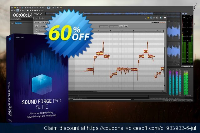 MAGIX SOUND FORGE Pro 13 Suite discount 25% OFF, 2020 Back to School deals promo sales