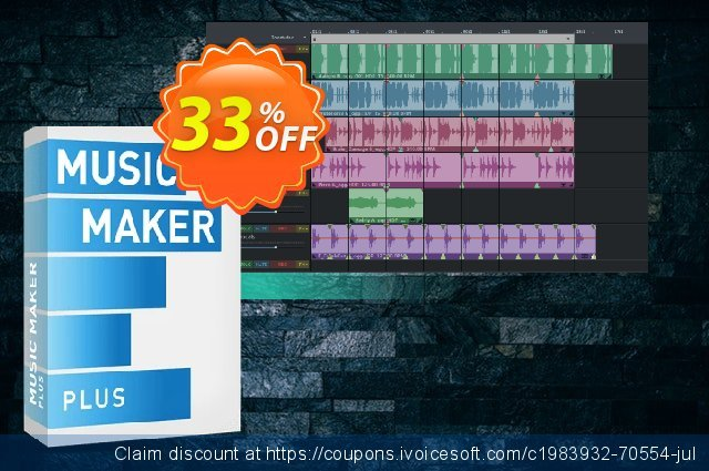 MAGIX Music Maker 2021 Plus Edition discount 33% OFF, 2020 Back to School shopping discount