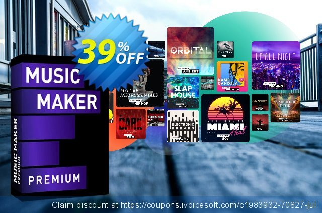 MAGIX Music Maker 2021 Premium Edition discount 39% OFF, 2020 Back to School shopping offering sales
