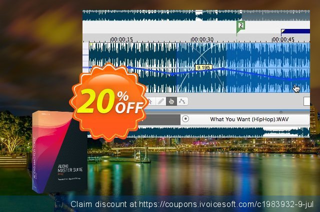 MAGIX Audio Master Suite Mac discount 25% OFF, 2019 Christmas & New Year offering sales