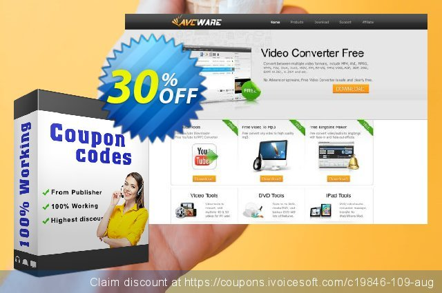 AVCWare DVD to PSP Converter 6 discount 30% OFF, 2021 Labour Day offering discount. AVCWare coupon (19846)